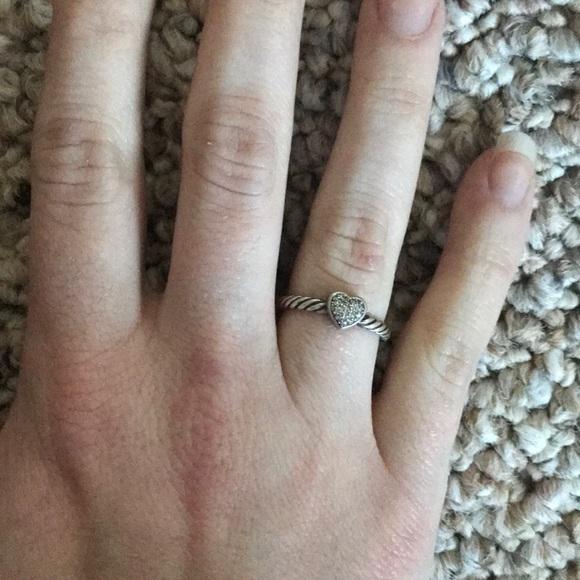 09add1c80aca96 David Yurman Jewelry | Authentic Petite Pave Heart Ring | Poshmark